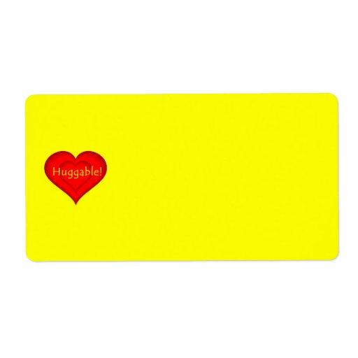 Amor Huggable Etiqueta De Envío