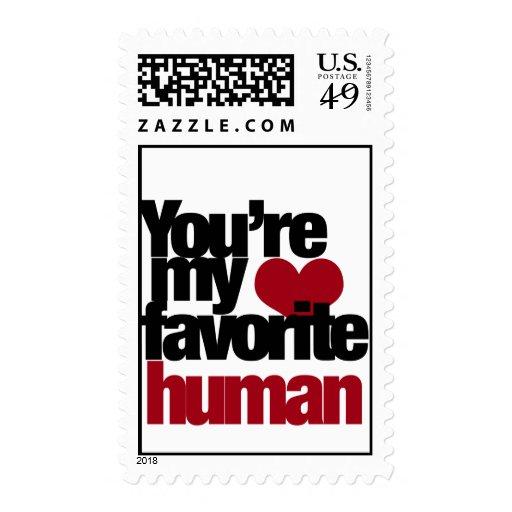 Amor humano preferido estampillas