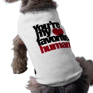 Amor humano preferido playera sin mangas para perro