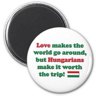 Amor húngaro imán de frigorifico
