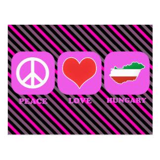 Amor Hungría de la paz Tarjetas Postales