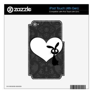 Amor I del conejito de Kuro iPod Touch 4G Calcomanías