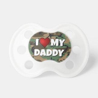 Amor I (del corazón) mi camuflaje del papá - bebé  Chupetes Para Bebés