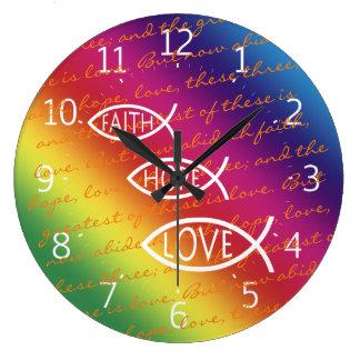 Amor Ichthus - reloj de la esperanza de la fe de