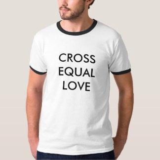 Amor igual cruzado playeras