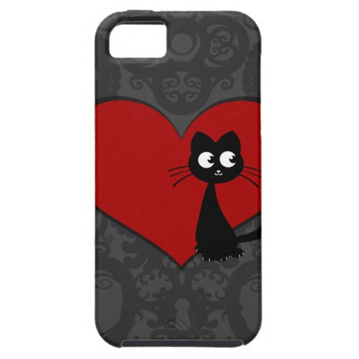 Amor II de Kuro del gatito iPhone 5 Fundas