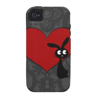 Amor II del conejito de Kuro iPhone 4 Carcasa