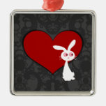 Amor II del conejito de Shiro Ornamentos De Navidad