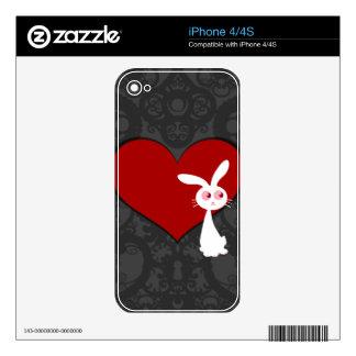 Amor II del conejito de Shiro iPhone 4 Skins