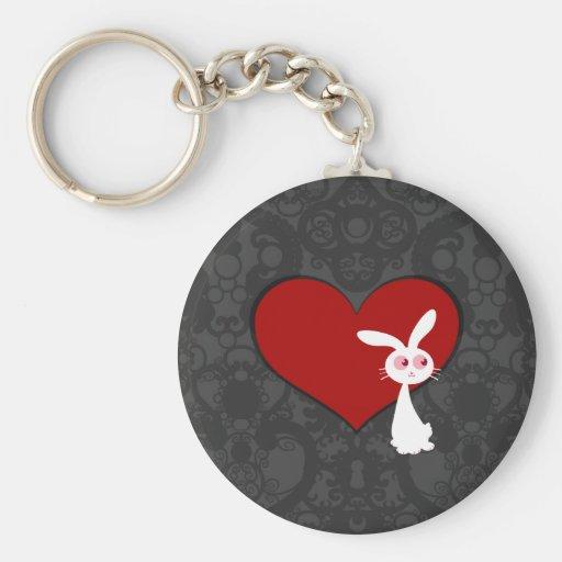 Amor II del conejito de Shiro Llavero Redondo Tipo Pin