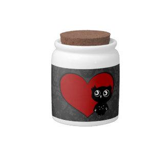 Amor III del búho Platos Para Caramelos