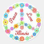 Amor Illinois de la paz Pegatinas
