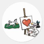 Amor imposible - amante del arte etiquetas redondas