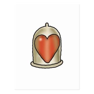 Amor imposible - condón del amor tarjetas postales