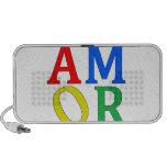AMOR in Bright Colors iPod Speaker