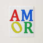 AMOR in Bright Colors Puzzle