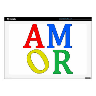 AMOR in Bright Colors Skins For Laptops