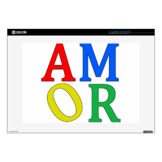 AMOR in Bright Colors Laptop Decals