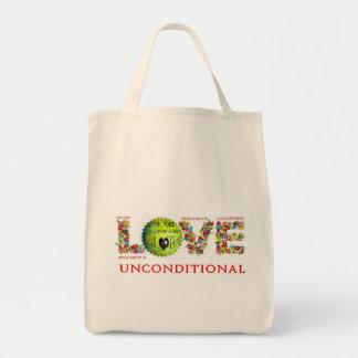 Amor incondicional bolsa lienzo