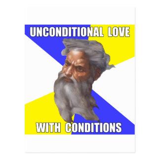 Amor incondicional de dios del duende postales