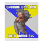 Amor incondicional de dios del duende posters