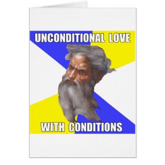 Amor incondicional de dios del duende tarjeta de felicitación