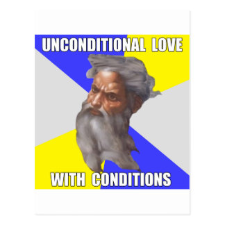 Amor incondicional de dios del duende tarjeta postal