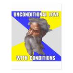 Amor incondicional de dios del duende tarjetas postales