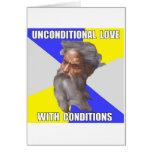 Amor incondicional de dios del duende tarjetas