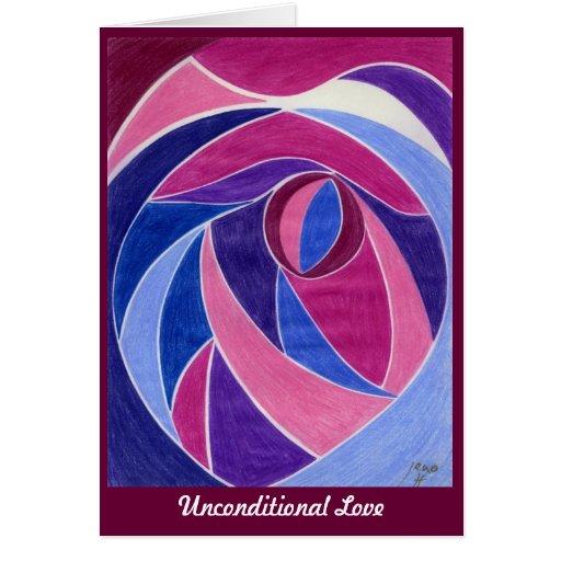 Amor incondicional tarjeton