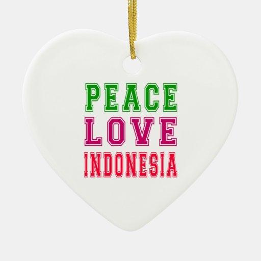 Amor Indonesia de la paz Adorno Para Reyes