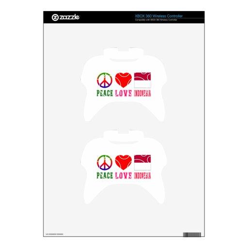 Amor Indonesia de la paz Mando Xbox 360 Skins