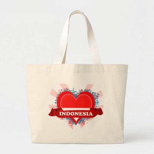 Amor Indonesia del vintage I Bolsa Tela Grande
