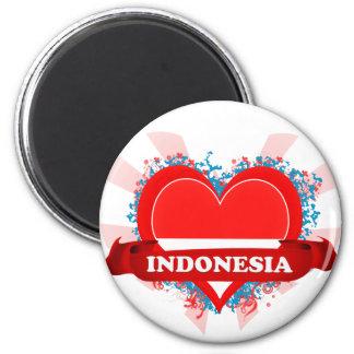 Amor Indonesia del vintage I Imanes De Nevera
