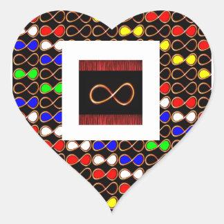 AMOR INFINITO ColorShade+FORMA del IMG del texto Pegatina En Forma De Corazón