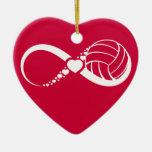 Amor infinito del voleibol ornamento para reyes magos