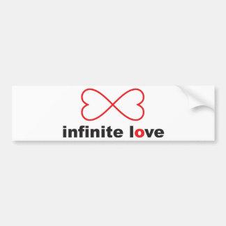 Amor infinito pegatina para auto