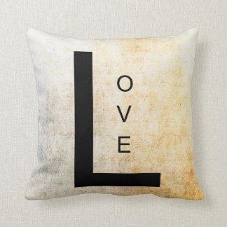 Amor inspirado del arte de la palabra cojines