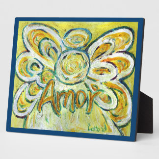Amor Inspirational Angel Word Painting Poem Plaque