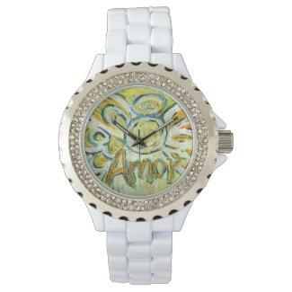 Amor Inspirational Guardian Angel Love Wrist Watch