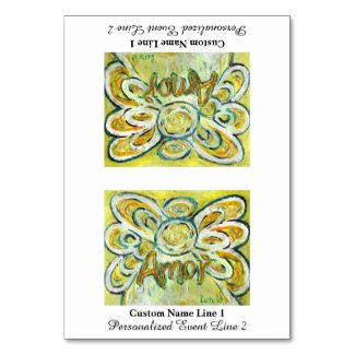 Amor Inspirational Word Angel Table Tent Card