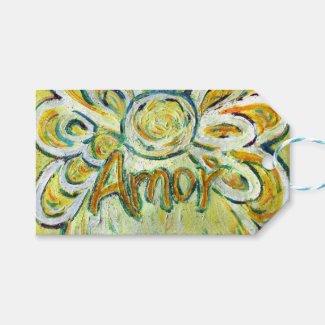 Amor Inspirational Word Custom Card Gift Tags