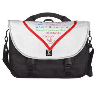 Amor internacional bolsas de portátil