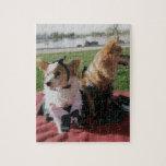 Amor internacional de los perros lindos vestidos t puzzles