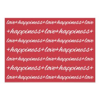 Amor + Invitación de la felicidad
