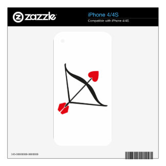 amor iPhone 4S calcomanía