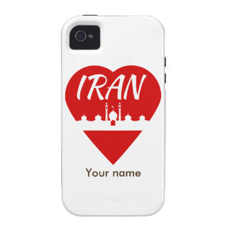 Amor Irán de Irán iPhone 4 Carcasa