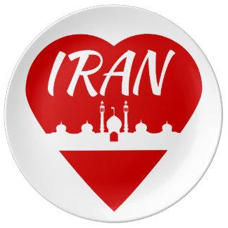 Amor Irán de Irán Plato De Cerámica