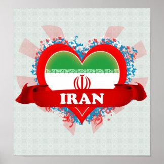 Amor Irán del vintage I Póster