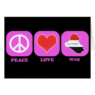 Amor Iraq de la paz Tarjetón